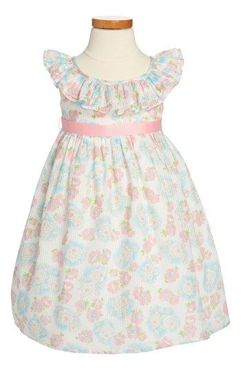 Laura Ashley Floral Print Dress (Toddler Girls) available at #Nordstrom