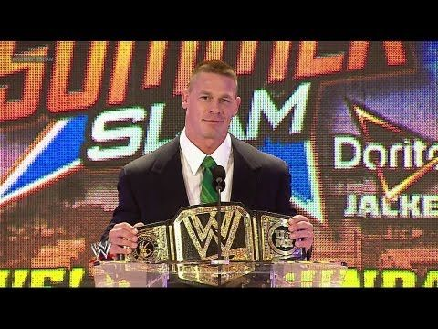 John Cena discusses the WWE Title Match at the SummerSlam 2013 Press Conference #WWE