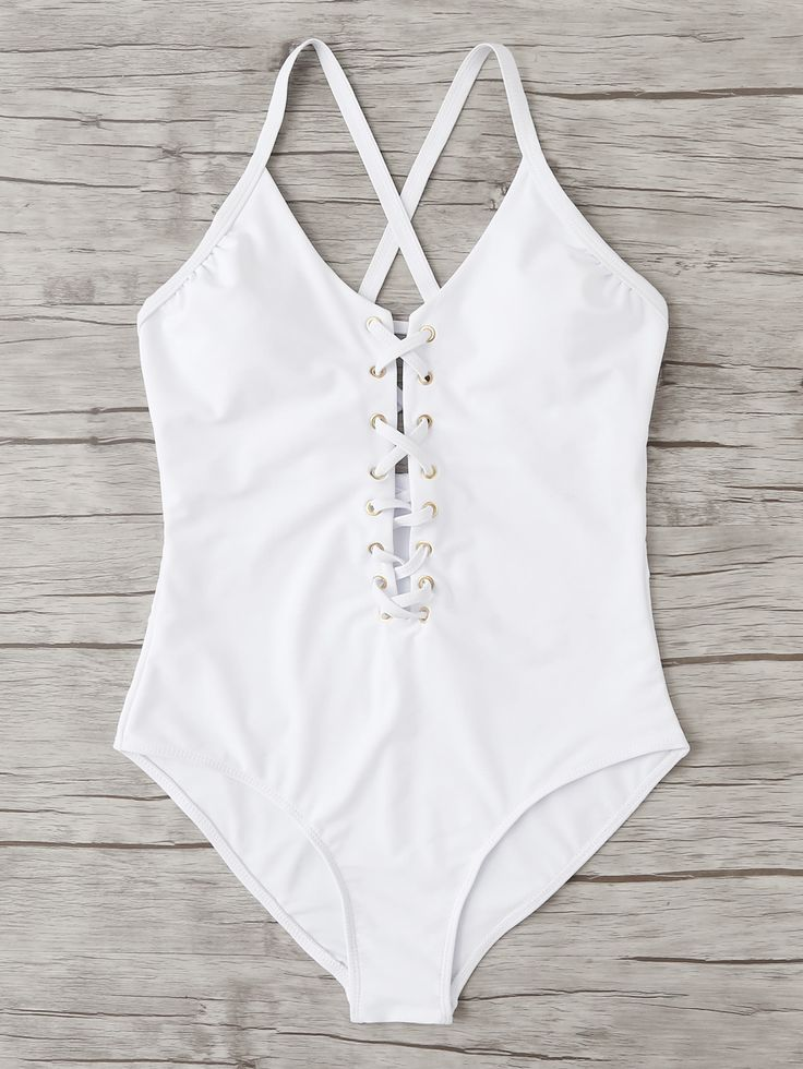 Shop Criss Cross Swimsuit online. SheIn offers Criss Cross Swimsuit & more to fit your fashionable needs.