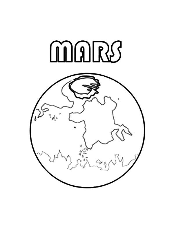 Planet Mars Coloring Pages For Kids Color Luna Coloring Pages