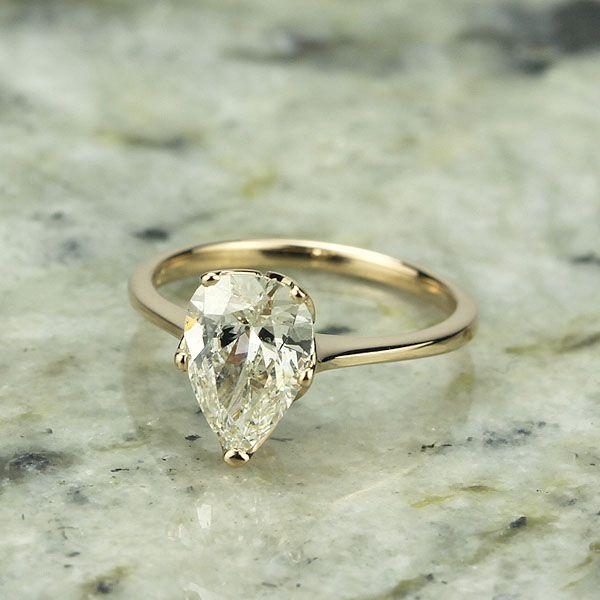 Edwardian Inspired Pear Shape Engagement Ring. - 3218-05 anillos de compromiso | alianzas de boda | anillos de compromiso baratos http://amzn.to/297uk4t