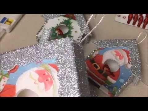 Manualidades Navideña de Casita de decoracion para el Arbol de Navidad - YouTube