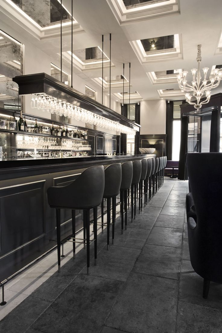 balthazar champagne bar hotel dangleterre copenhagen denmark by space copenhagen - Beaded Inset Restaurant Interior
