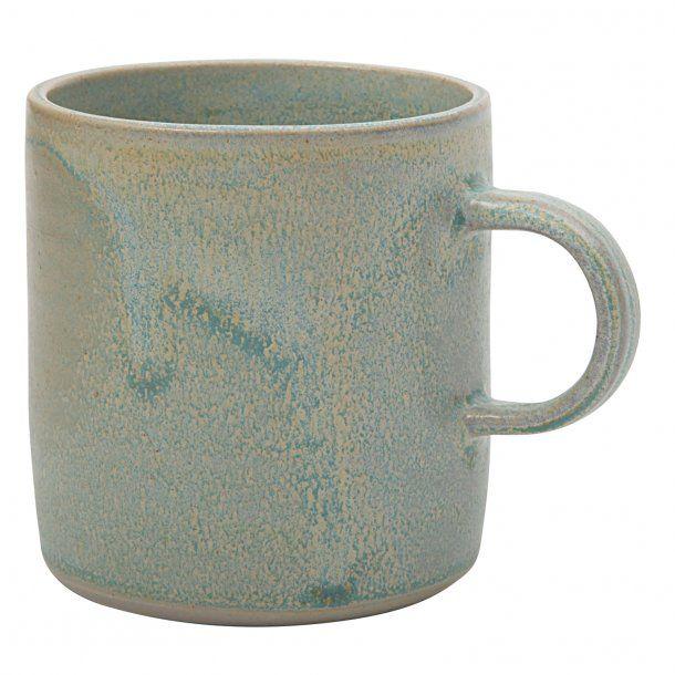 Julie Damhus Handmade - Keramik håndlavet kop med hank, mint