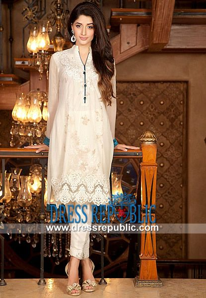 Designer Zainab Chottani White Dress 2014 Evening, Maxi and Party Dresses by Zainab Chottani Modeled by Mawra Hocane, The Latest Party and Evening wear Collection 2014 by Zainab Chottani is Available on Dressrepublic. by www.dressrepublic.com