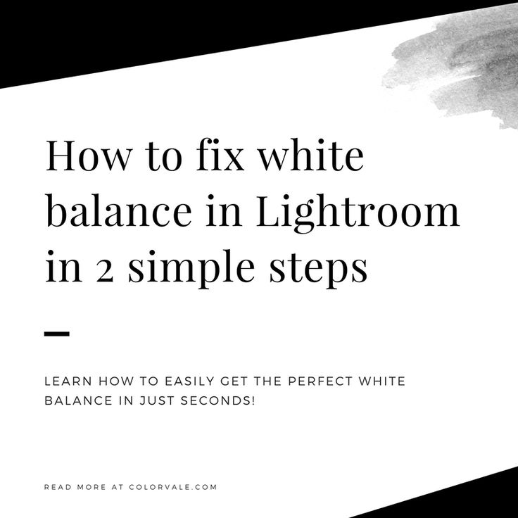 CLICK HERE (and repin): How to fix white balance in Lightroom in 2 simple steps If you have not found the eyedropper in Lightroom & how to use it, then I'm about to become your new best friend! As you know, it's not always easy to get perfect white balance in camera. And trying to fix it manually in post production can be time consuming (plus a headache). Thankfully, Lightroom……