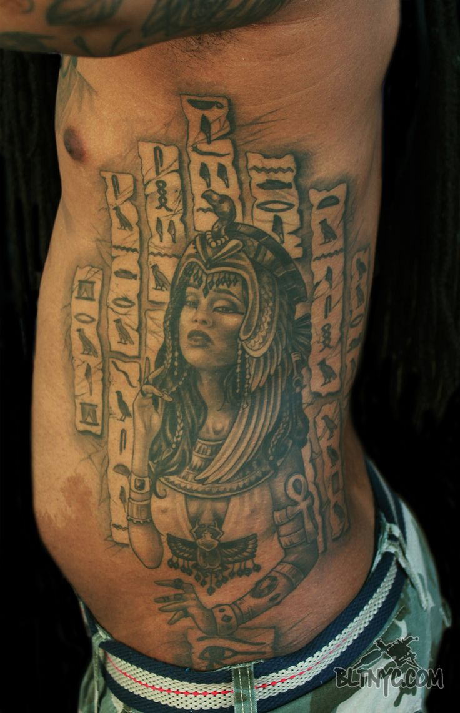 Tattoo by Nicole #Cleopatra #Egyptian #Hieroglyphics #tattoo