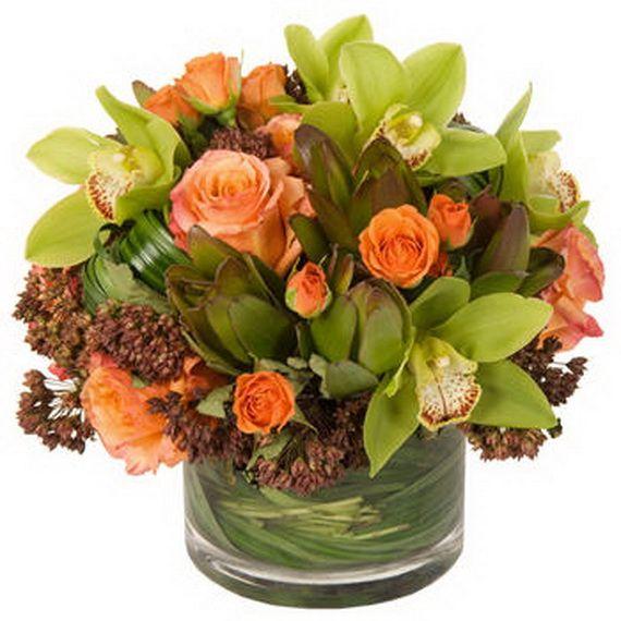 Thanksgiving floral centerpiece ideas fall