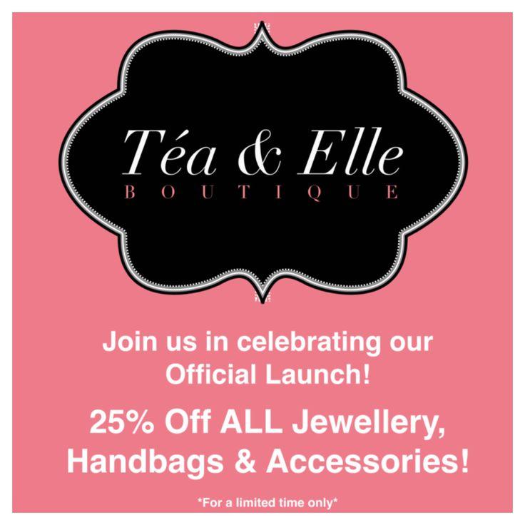 25% off everything for a limited time! www.facebook.com/TeaAndElle