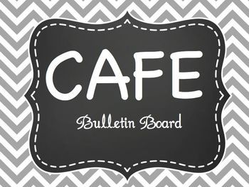 CAFE Bulletin Board FreebieCheck out my matching Gray & Chevron Chalkboard Classroom decor in my store! If you download this freebie and like it, please leave me good feedback!!