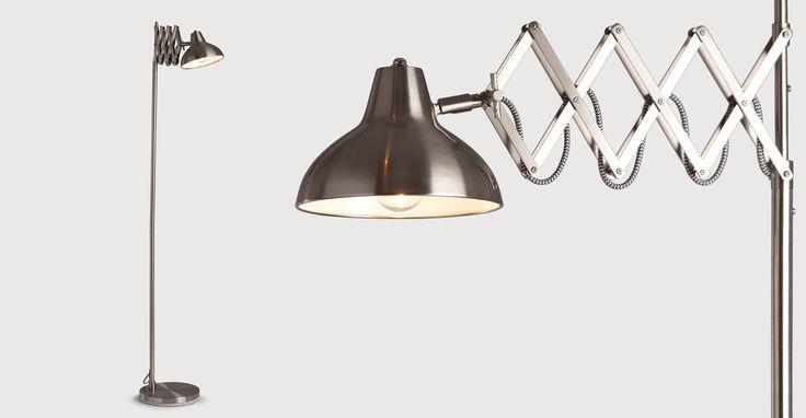 Frosini Floor Lamp, Brushed Stainless Steel