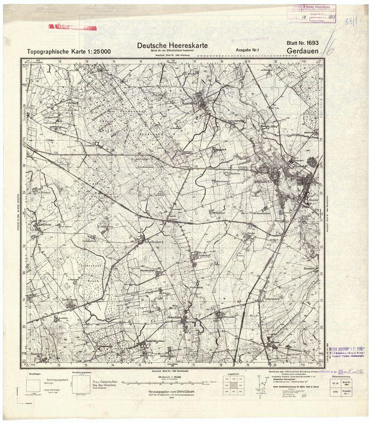 Map of Gerdauen (Железнодорожный). 1944. Кликните по превью. Когда загрузится полноценное представление выбранного изображения, кликните по нему еще раз. В новом окне загрузится полноразмерное изображение, которое можно сохранить на HD или иной носитель.