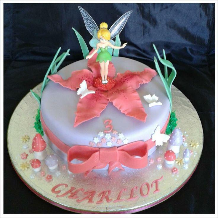 Tinkerbell character birthday cake.