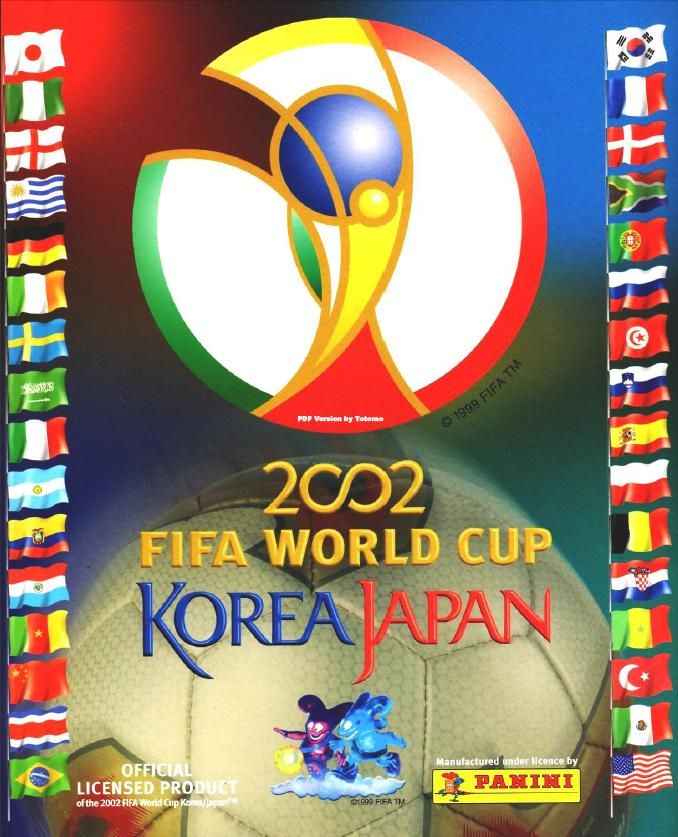 World Cup 2002 Korea Japan Panini Album Stickers