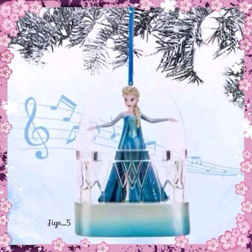 Disney Store Frozen Queen Elsa Singing Sketchbook Christmas Ornament NEW!!! in Collectibles   eBay