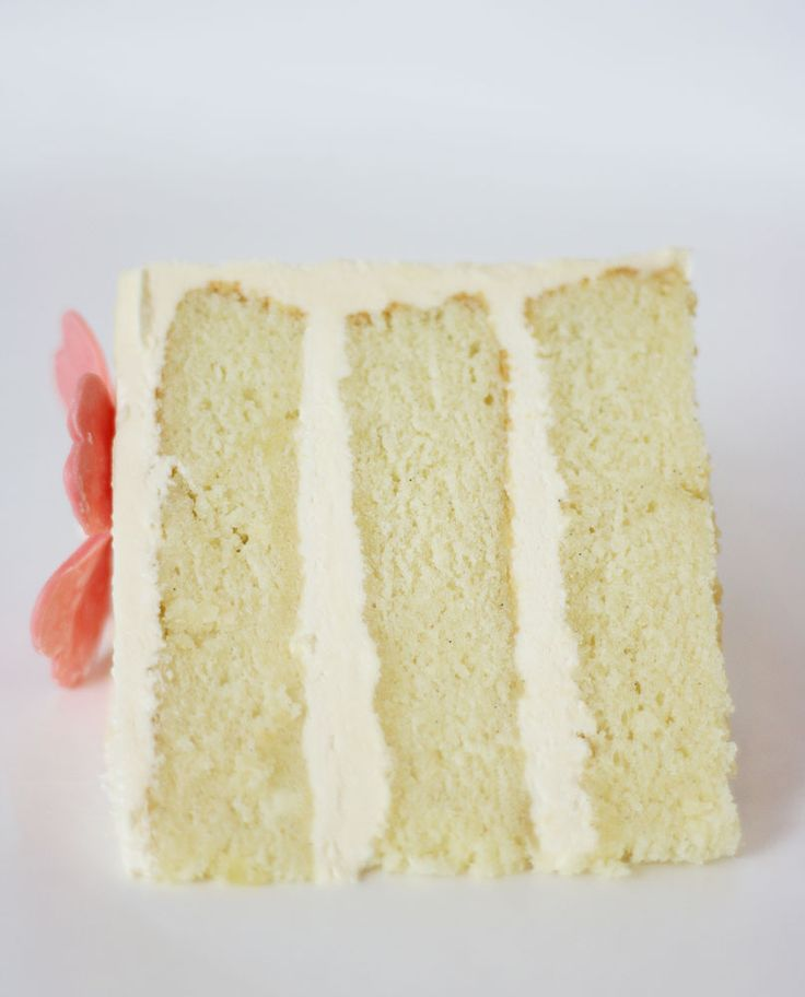Sour Cream Vanilla Bean Cake with French Sour Cream Buttercream | Cake Paper Party This rich cake is tender and beautifully textured with a crumb that is light but tight enough to work beautifully for carving and stacking.
