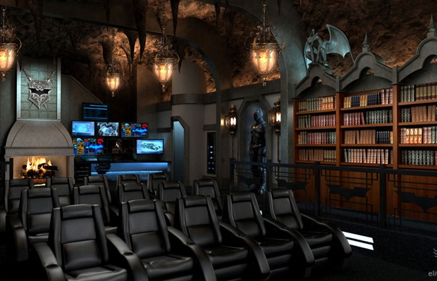 Home Theater Inspired By The Dark Knight