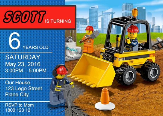 Lego Printable Invitations Ideas – Lego City Birthday Invitations