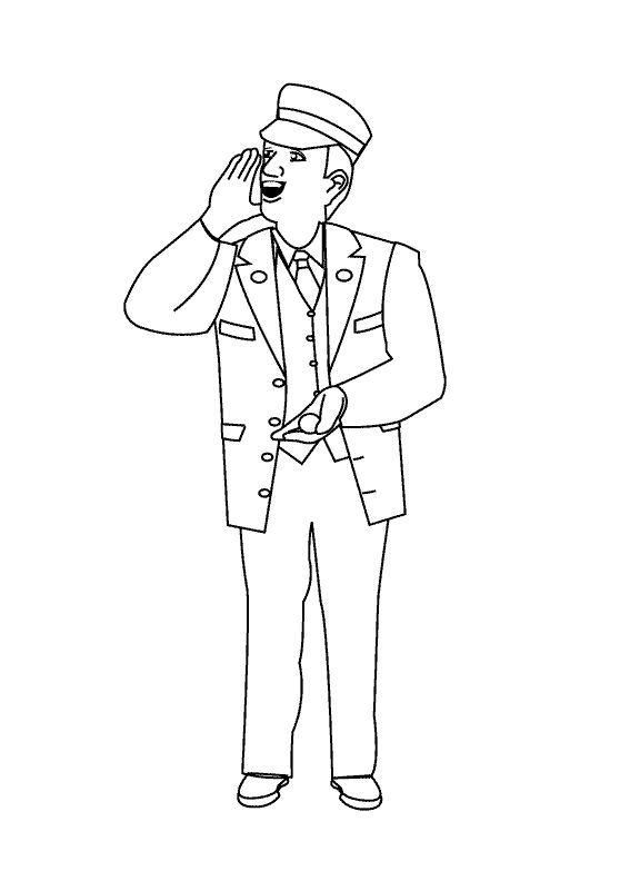 Coloring Pages Conductor Coloring Pages Color Conductors