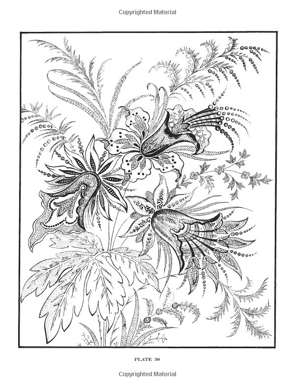 Dover Publications / 600 Decorative Floral Designs / F. B. Heald / Amazon.com