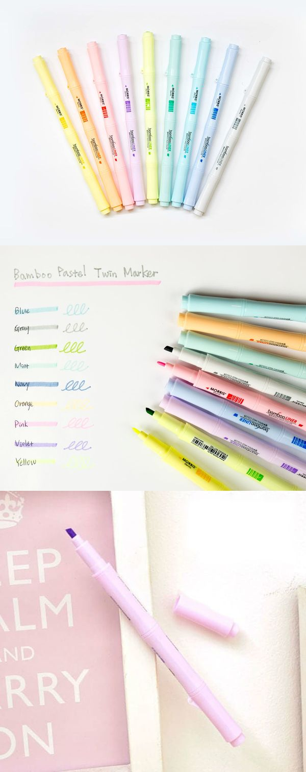 The Bamboo Pastel Twin Marker will be the marker you will look for when you need to highlight, draw, write and underline. This functional marker includes 2 different sizes of tip on each side and presents you with a lovely pastel color!