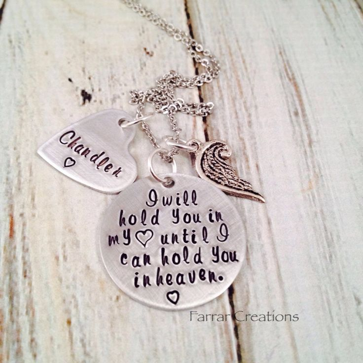 Hand Stamped Memorial necklace  Infant Loss  I by FarrarCreations, $32.00