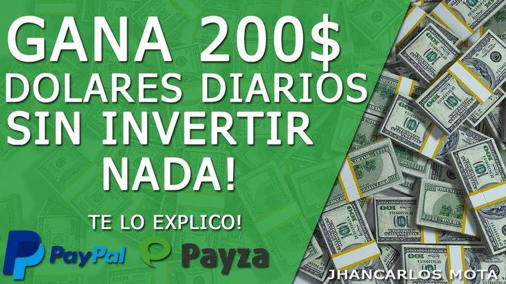COMO GANAR 200 DOLARES DIARIOS POR INTERNET NUEVO METODO + TRUCO ( NOVIE...