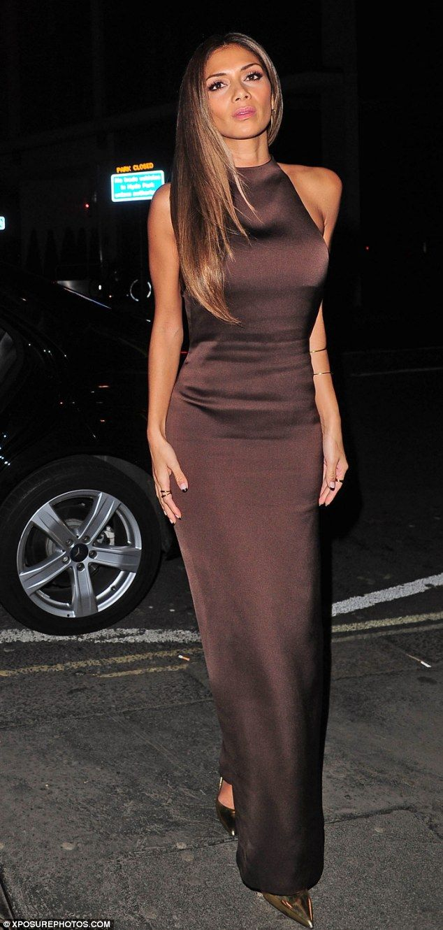 Gorgeous gown: Nicole Scherzinger went to Mr Chow restaurant on Sunday night wearing her second dress of the evening