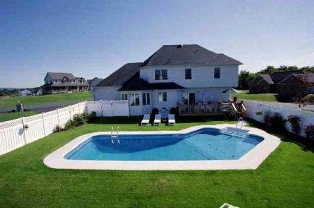 Grecian Lazy-L Inground Swimming Pool Prices : Vinyl Liner Pool Designs | Penguin Pools
