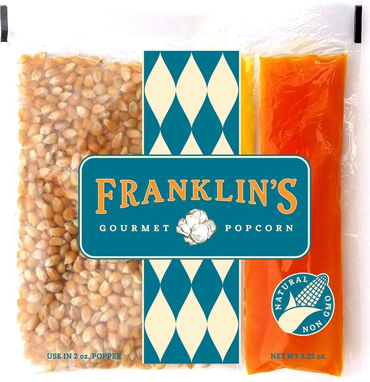 Franklin's Gourmet Movie Theater Popcorn. Organic Popping Corn, 100% Coconut Oil, and Seasoning Salt. Pre-Measured Portion Packs (Pack of 24). *** Additional details at the pin image, click it  : Fresh Groceries