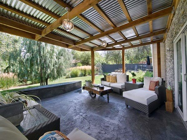 Top 60 Patio Roof Ideas Covered Shelter Designs Patio Design