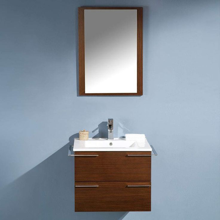 Fresca Cielo 24 inch Modern Single Bathroom Vanity with Mirror FVN8114