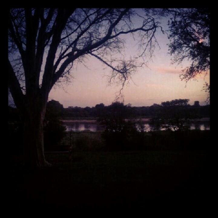 Sunrise over sabie river