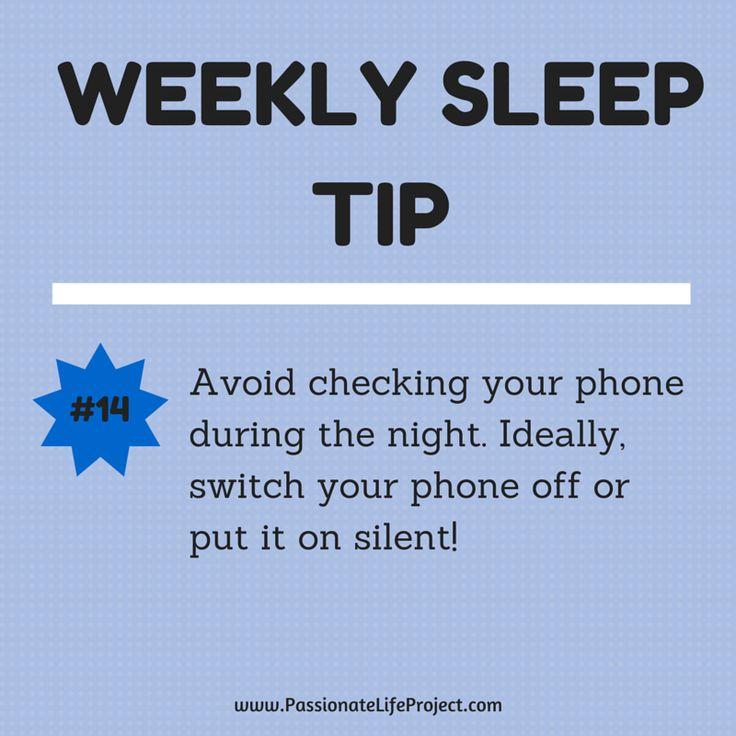 Sleep Tip #14