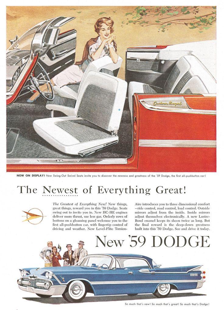 Dodge Pushbutton Car 1959 Ad Picture