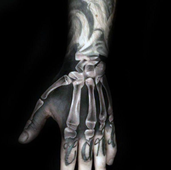 Skeleton Hand Tattoo Tattoos Pinterest Hand 8