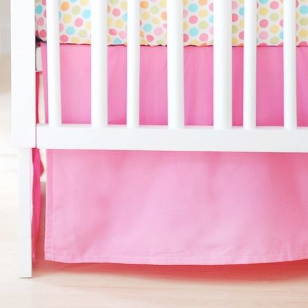 Hot Pink Crib Skirt 10
