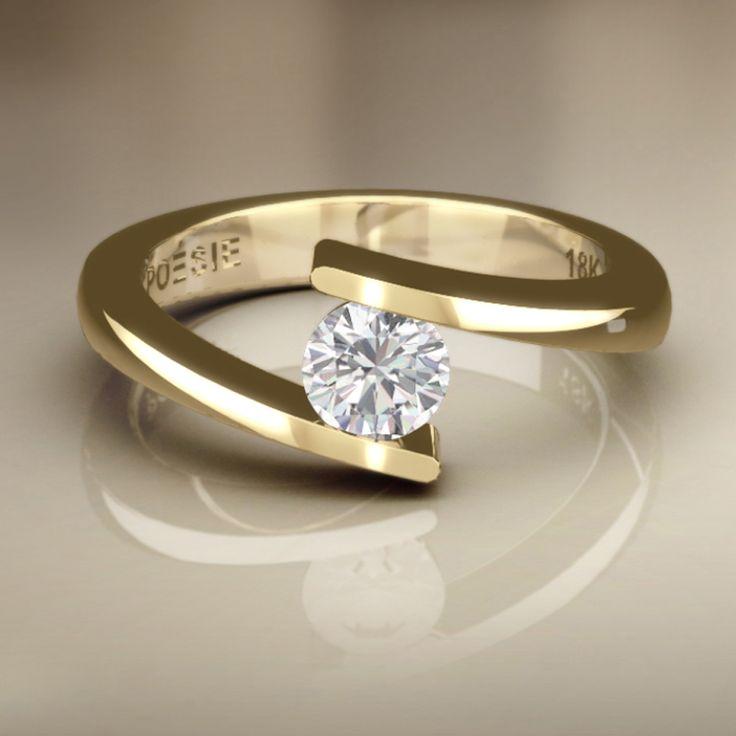 Anel de Noivado Mies II - Anéis de Noivado | Poésie - Joalheria Virtual