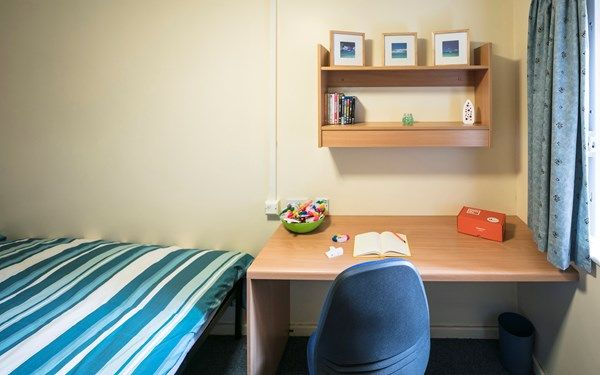 All of the rooms come with a study area complete with chair and desk.