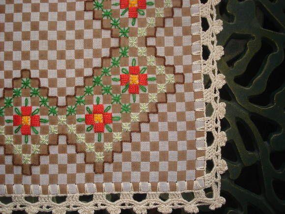 Toalha de bandeja xadrez | ARTE DOS FIOS | Elo7