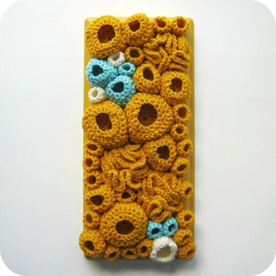 Knit wall decor by Rachel Hunnicutt.