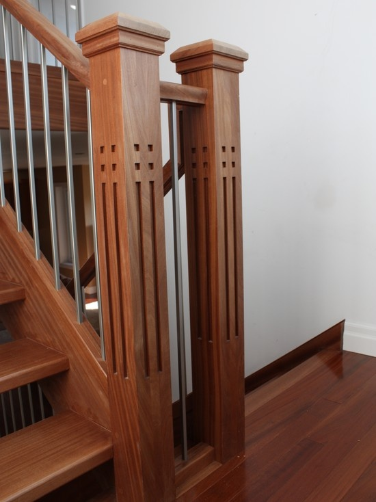 Mission Style Newel Posts Design Pictures Remodel Decor and Ideas & 23 best Rodriguez Stairs images on Pinterest | Clinton hill ... Aboutintivar.Com