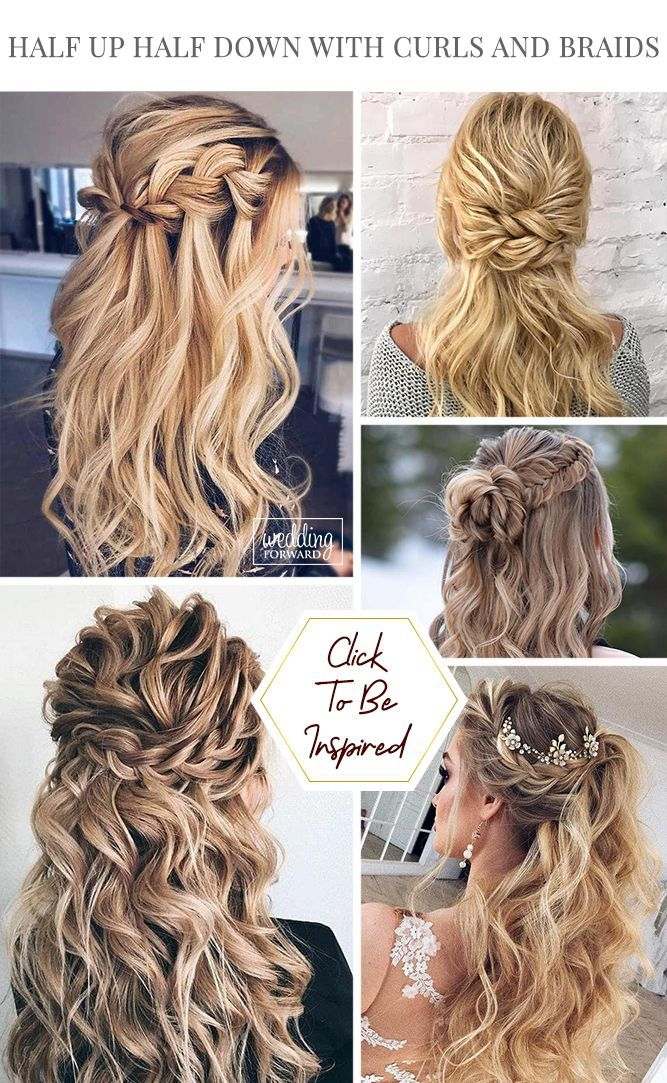 45 Perfect Half Up Half Down Wedding Hairstyles Wedding Forward Hair Styles Simple Wedding Hairstyles Wedding Hair Down