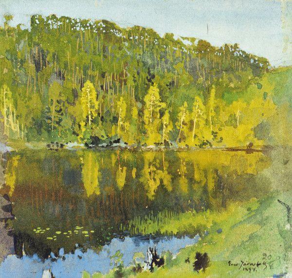 """Metsälampi"" (1894) by Eero Järnefelt"