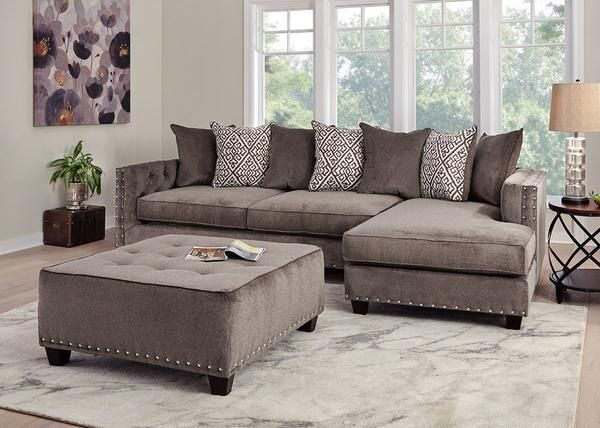 Bristol Silver 2 Pc Sectional Home