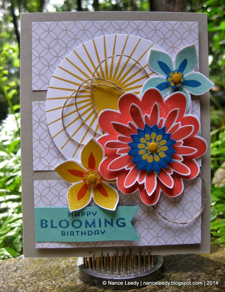 nancy lempinen leedy canopy crafts a milestone celebration su stamps flower patch kinda eclectic framelit dies circles flower fair - Eclectic Canopy 2015