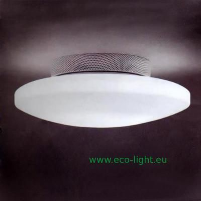 Vistosi 'Moris 50' Italian glass from Richmond Lighting - large compact fluorescent oyster fitting - a general light fitting that will light your face from the front rather than just above - this one works very well