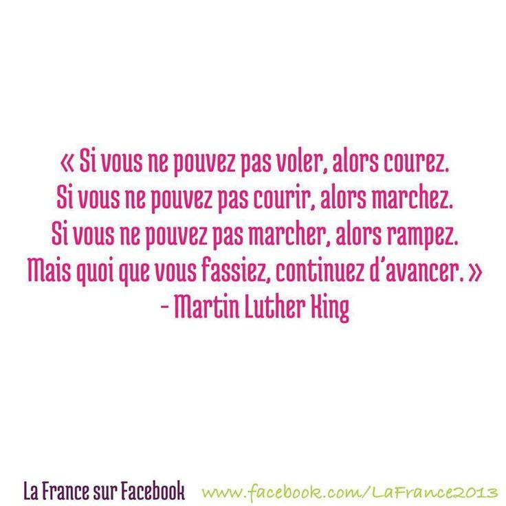 ...Martin Luther King Avancer