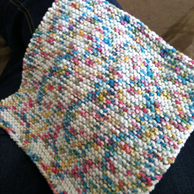 Washcloth Knitting Patterns For Beginners : Hand-knit washcloth. Knitting Pinterest Squares and Knits