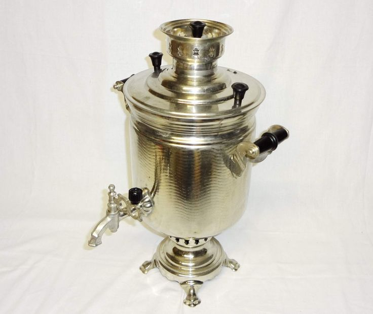 Vintage Russian Samovar*Antique Russian Soviet SAMOVAR on COAL WOOD FUEL 5L